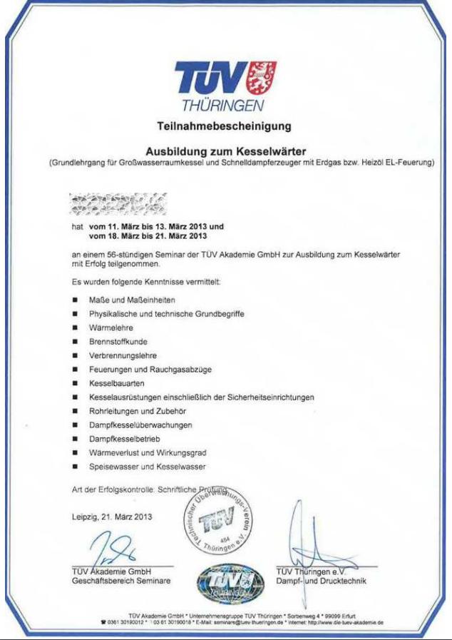 Wasserhygieneschulung nach VDI 6023 Kategorie A