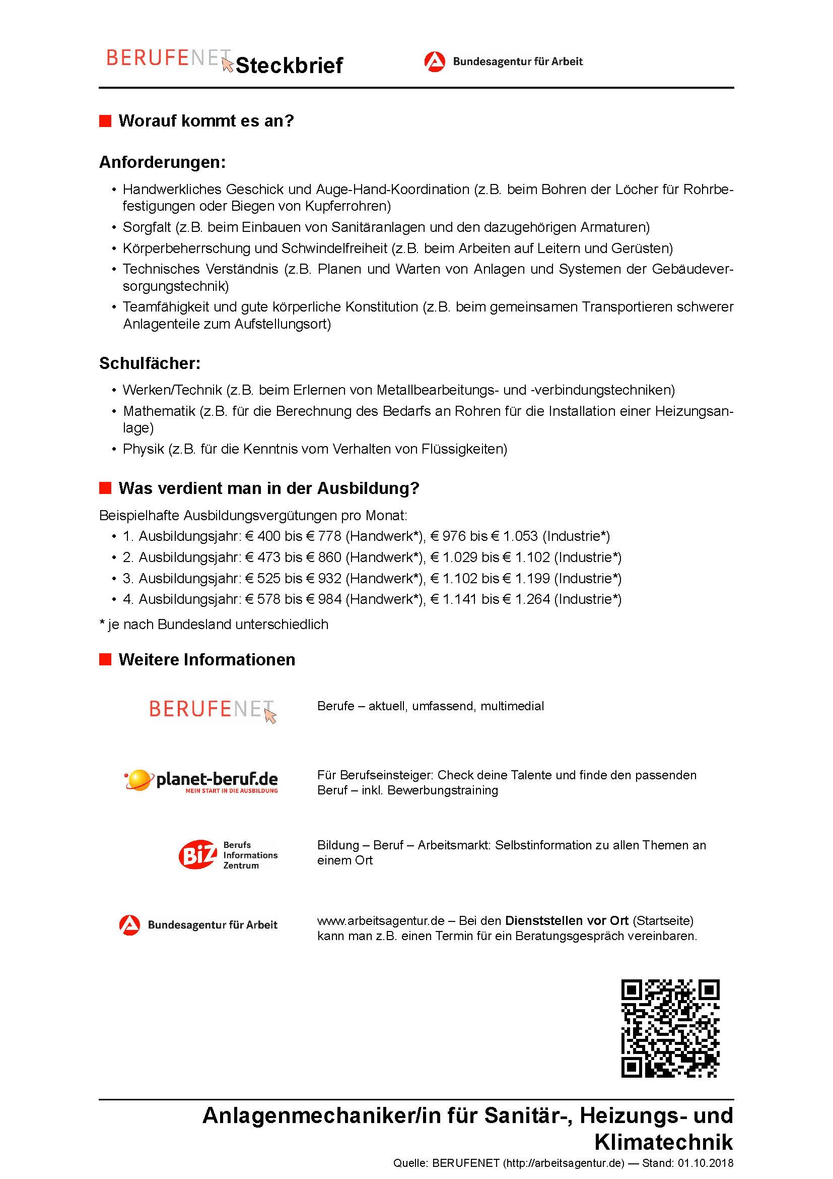 Bewerbung Anlagenmechaniker Berufseinsteiger Sofort Download